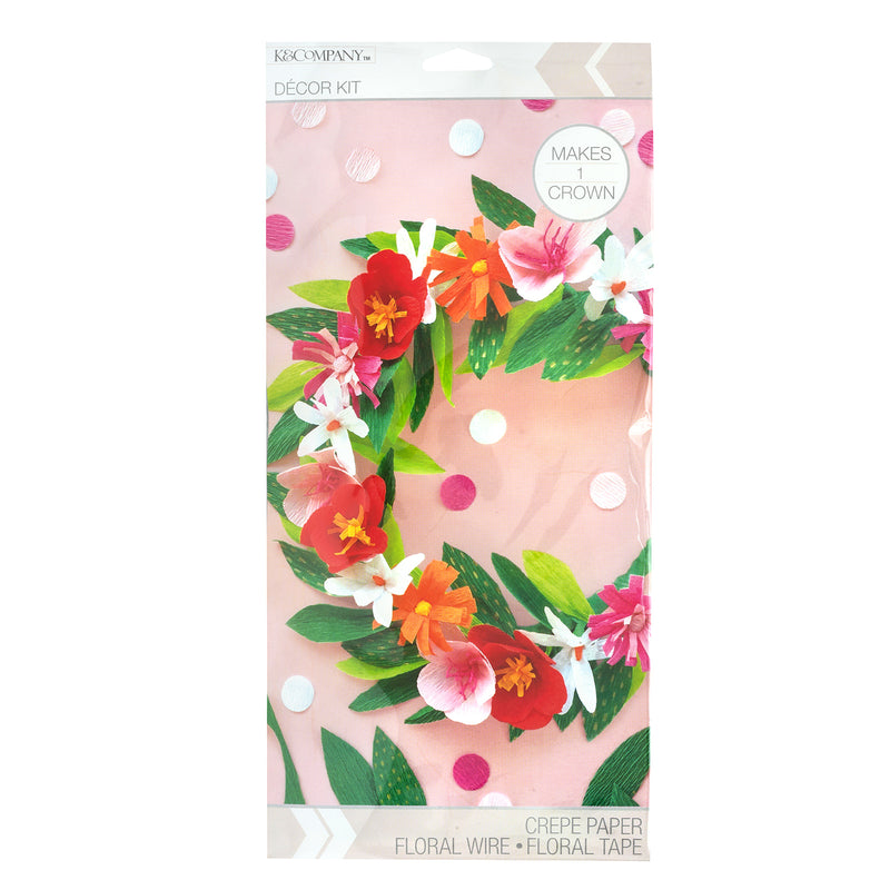 Bright Floral Crown Kit - DIY Corona Floral - K&Company
