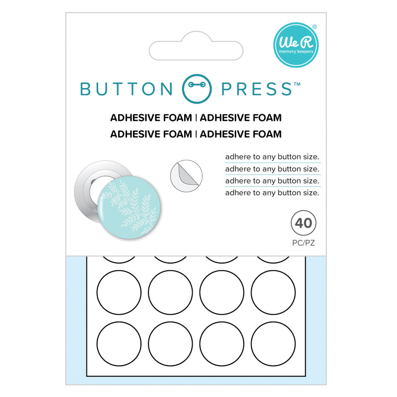 Button Press - Foam Adhesivo (40 pzas)  - WRMK