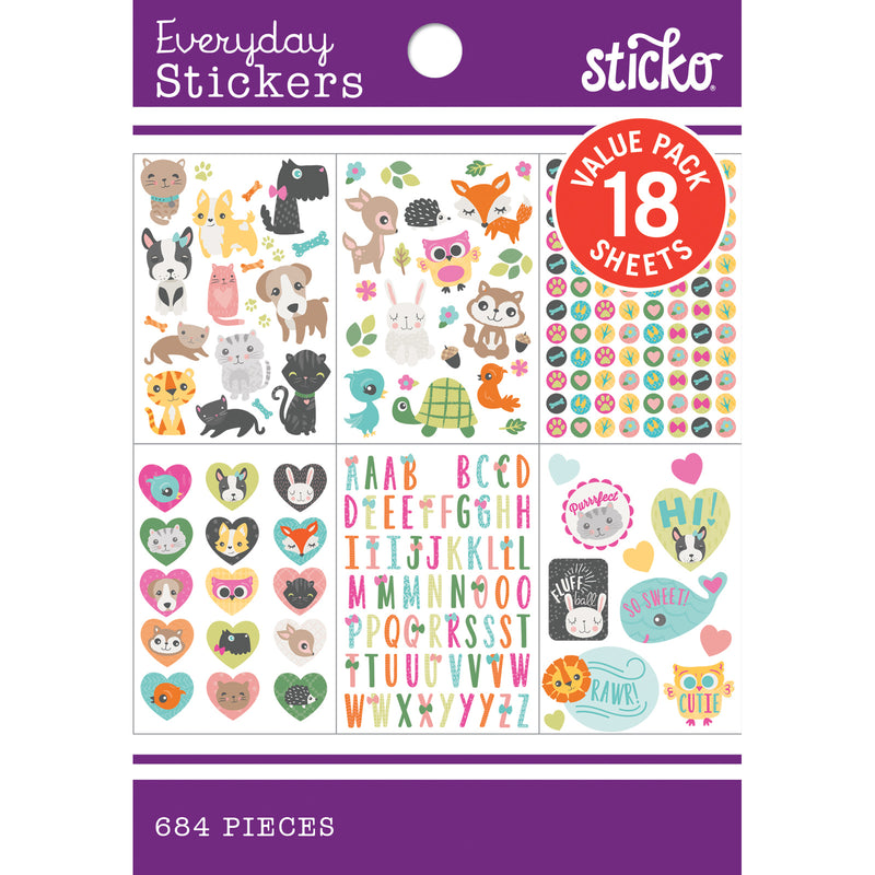 Cute Critters - Sticker Pad - Sticko