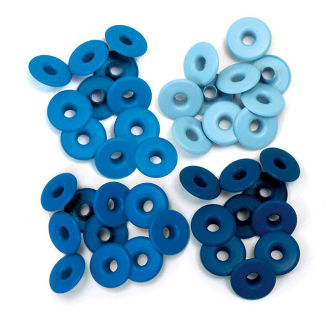 Wide eyelets blue - Ojales amplios azules - WRMK
