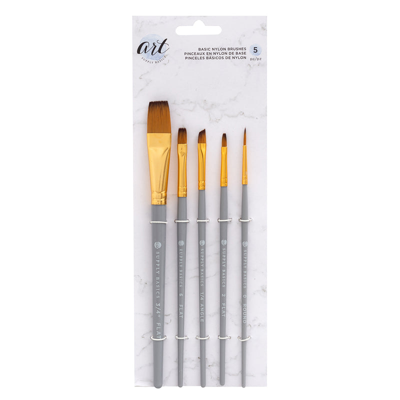 Basic Nylon Brushes - Pinceles Basicos de Nylon - ASB