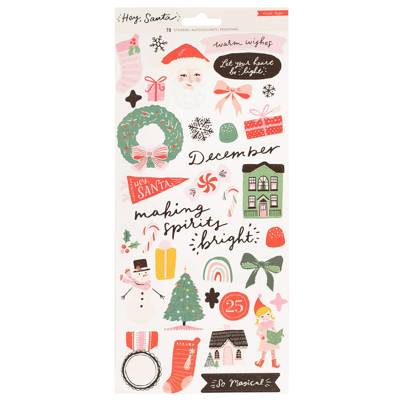Hey Santa Stickers - CP