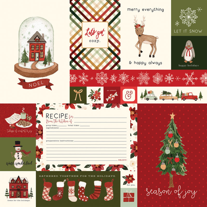 Hello Christmas Collection kit - Paper Pad 12x12 - Echo Park