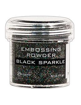 Embossing Powder - Black Sparkle - Ranger
