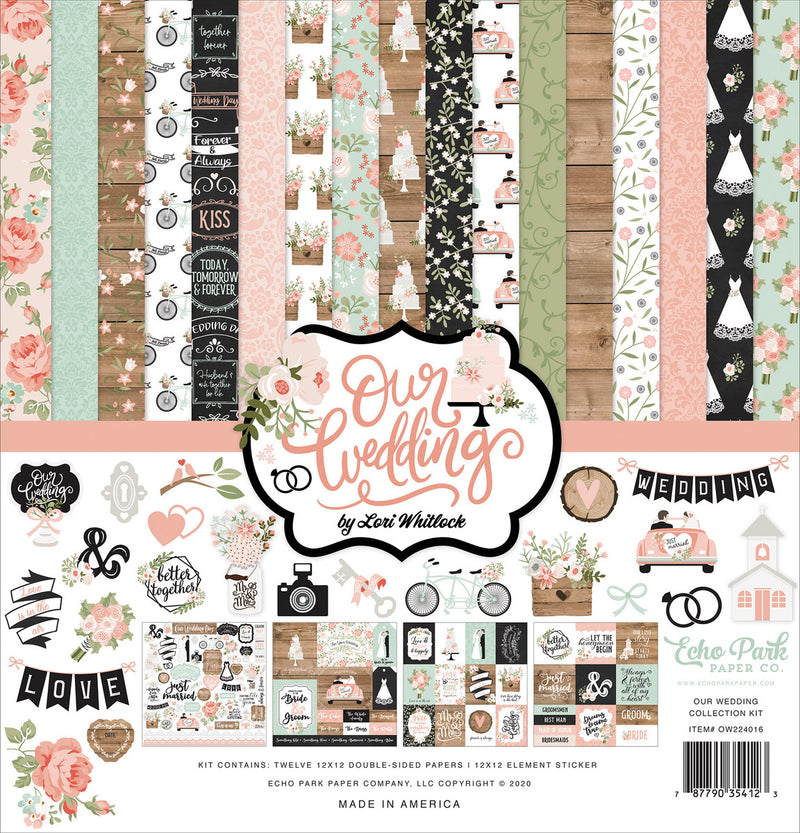 Our Wedding Collection Kit - Paper Pad 12x12 - Echo Park