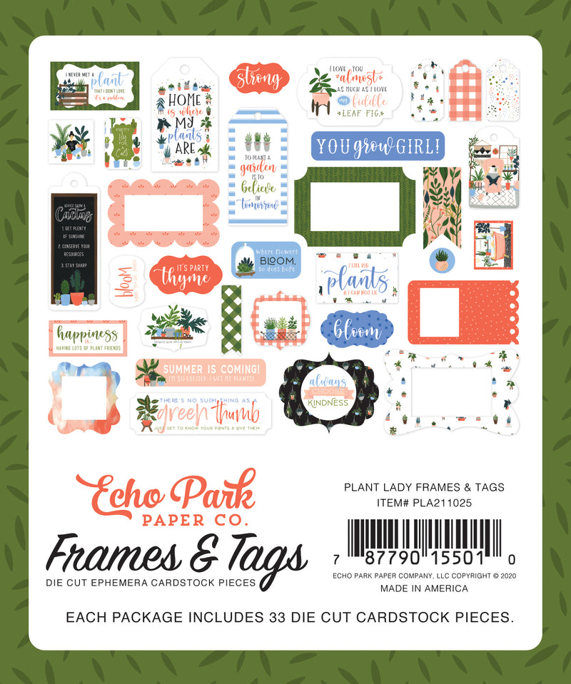 Plant Lady Frames & Tags - Echo Park