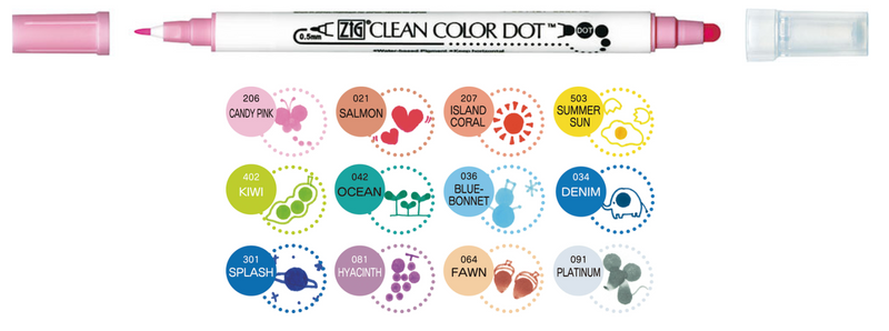 Clean Color Dot - Individuales - ZIG Kuretake