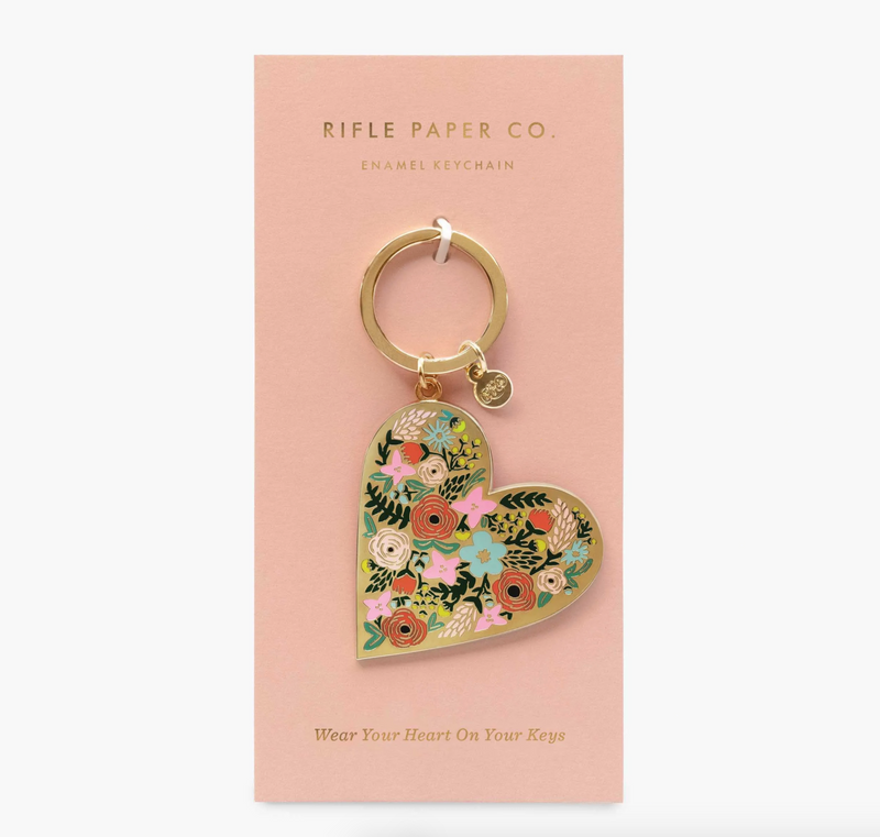 Floral Heart Keychain - Llavero - Rifle Paper Co
