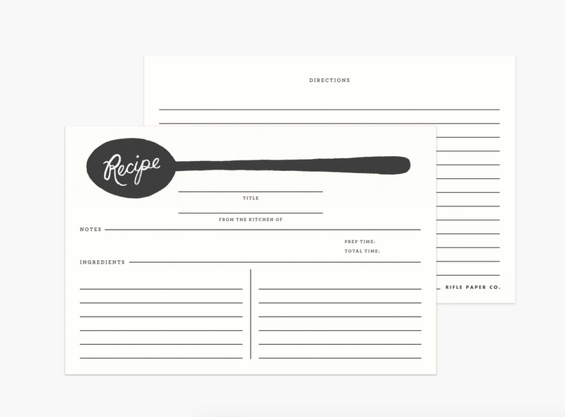 Recipe Tin - Recetario Metalico - Rifle Paper Co