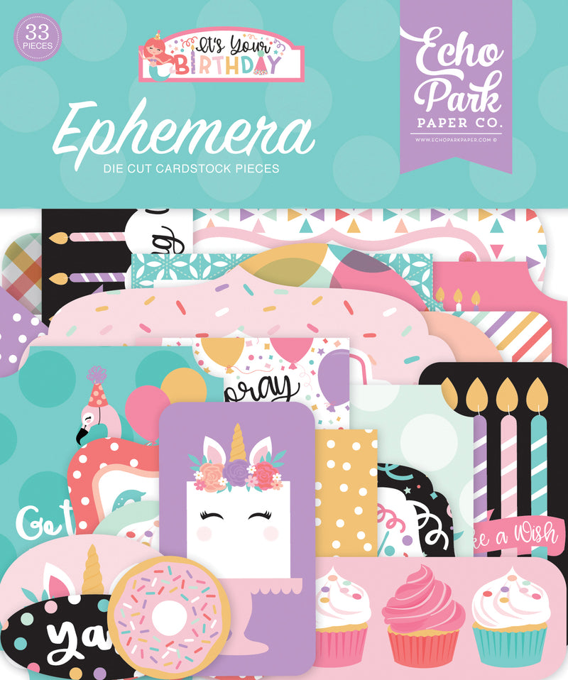 Its Your Birthday Girl Ephemera - Echo Park