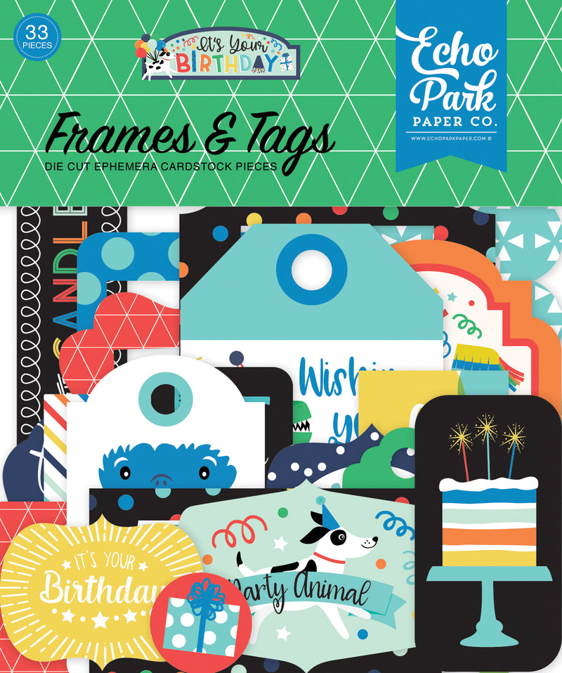 Its Your Birthday Frames and Tags - Echo Park