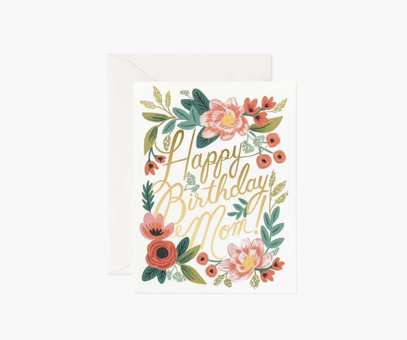 Tarjeta de Felicitación - Happy Birthday Mom - Rifle Paper Co