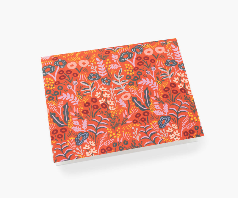 Set de 8 Tarjetas Personales - Tapestry Red - Rifle Paper Co