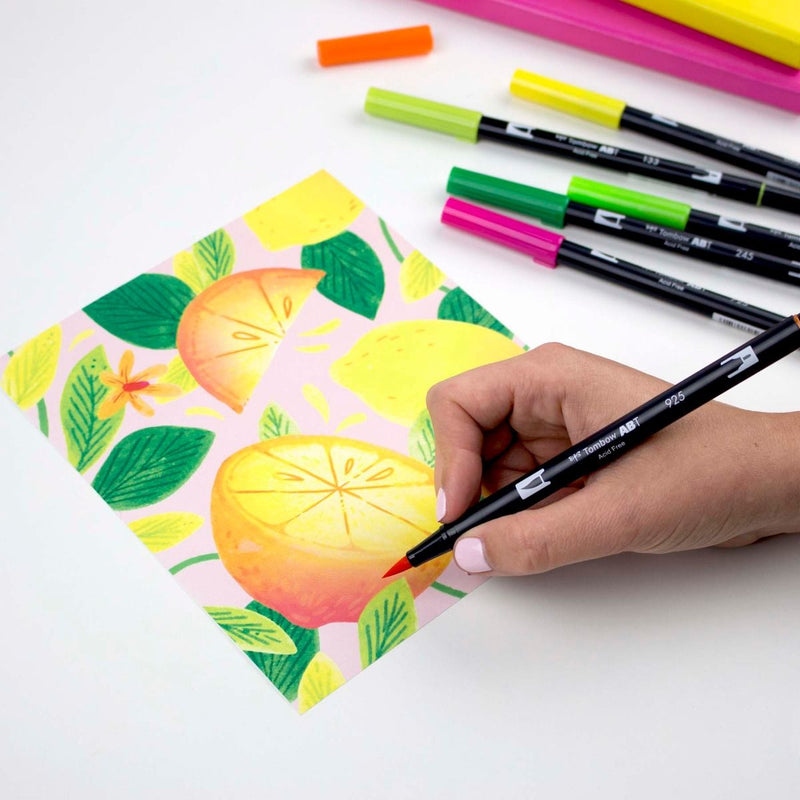 Dual Brush Pen Art Markers - Citrus 10 pack - Tombow