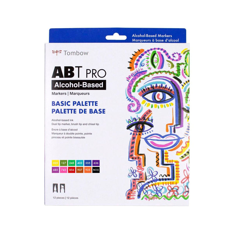 ABT Pro (Alcohol Based) - Paleta Basica (12 und) - Tombow