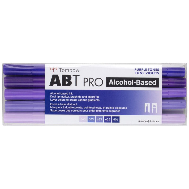 ABT Pro (Alcohol Based) - Púrpuras (5 und) - Tombow