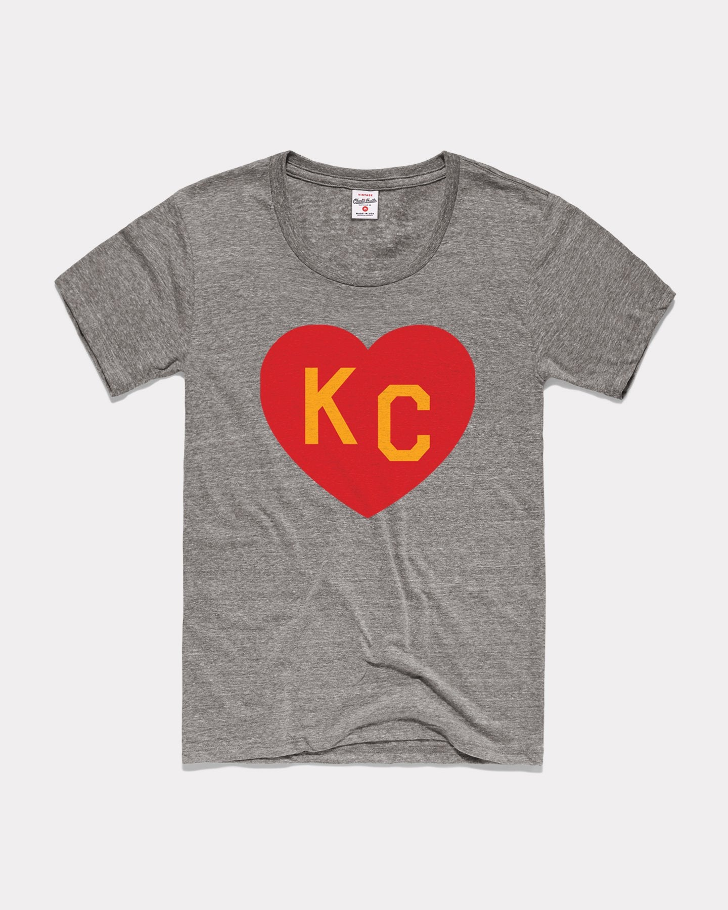 Grey Arrowhead Collection KC Heart Vintage Women's T-Shirt