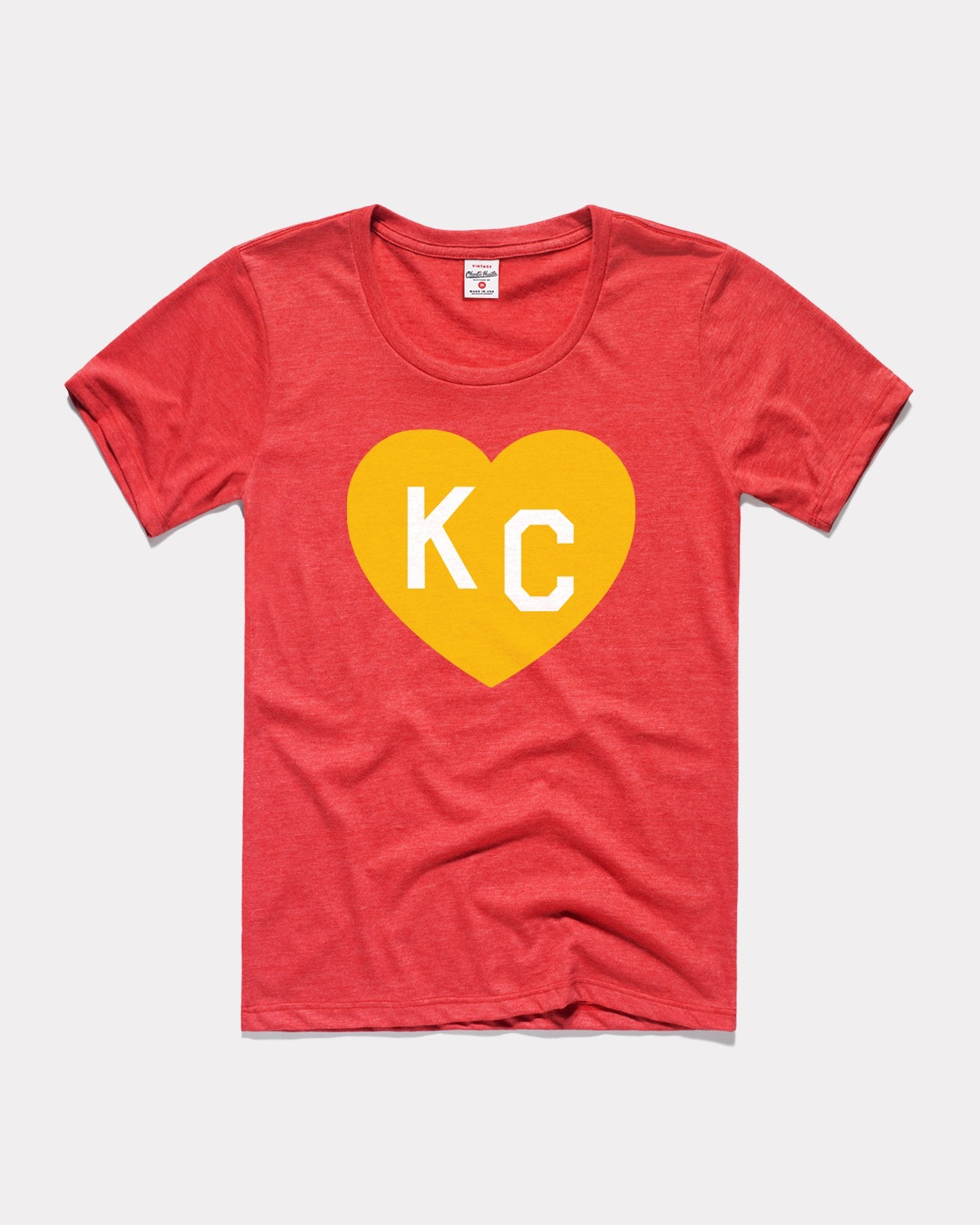 Heather Red KC Heart Vintage Women's T-Shirt