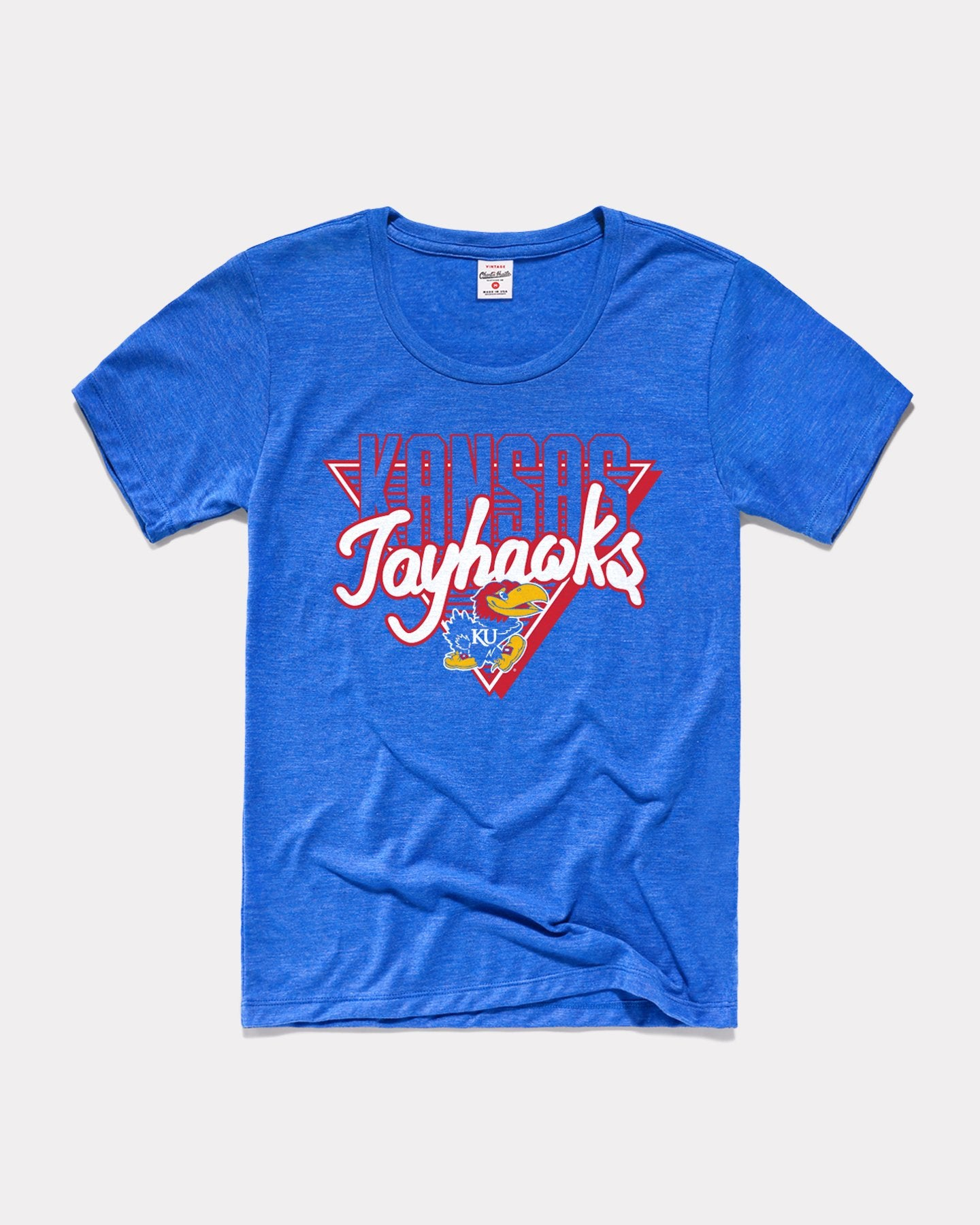 Royal Blue Kansas Jayhawks 90's Throwback Women's T-Shirt