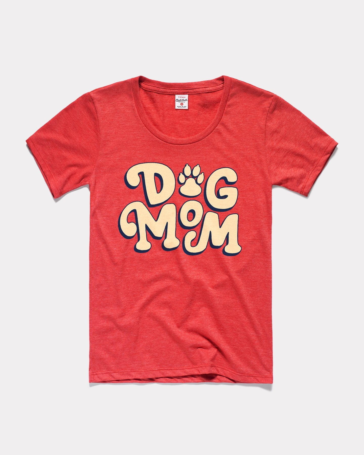 Heather Red Women's Mother's Day Dog Mom Vintage T-Shirt