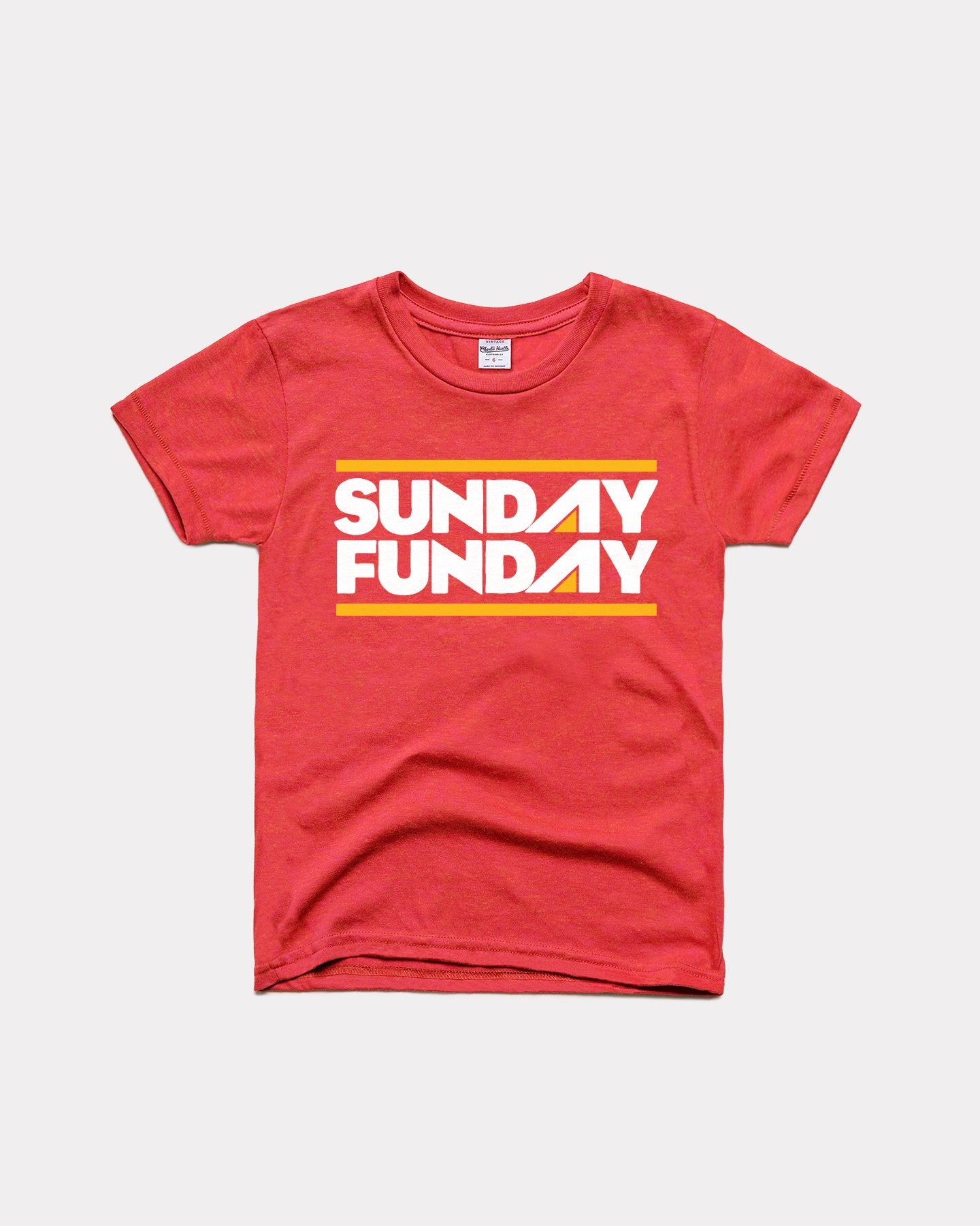 Youth Red Sunday Funday Vintage Arrowhead Youth T-Shirt