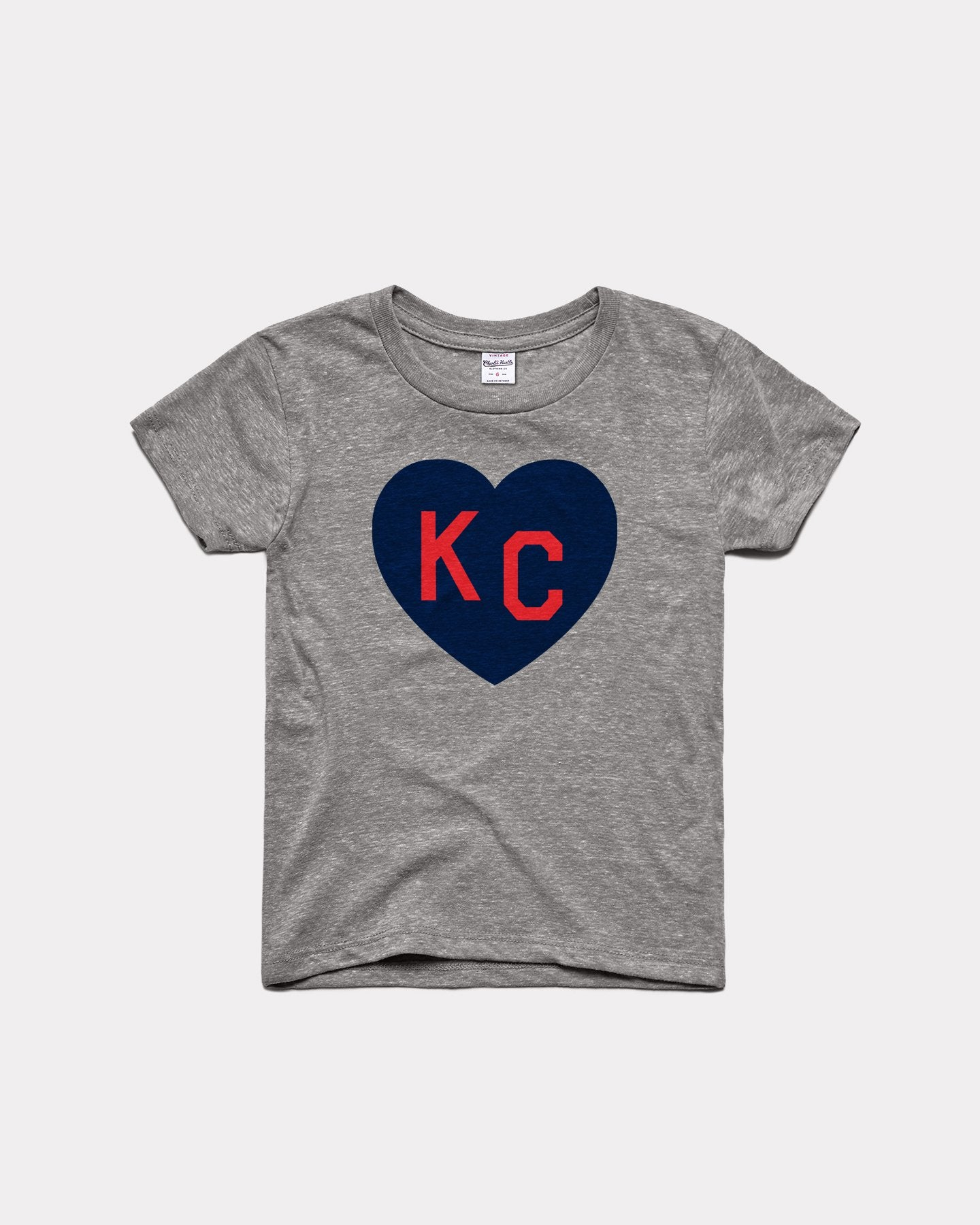 Kids Vintage Grey KC Heart Youth T-Shirt