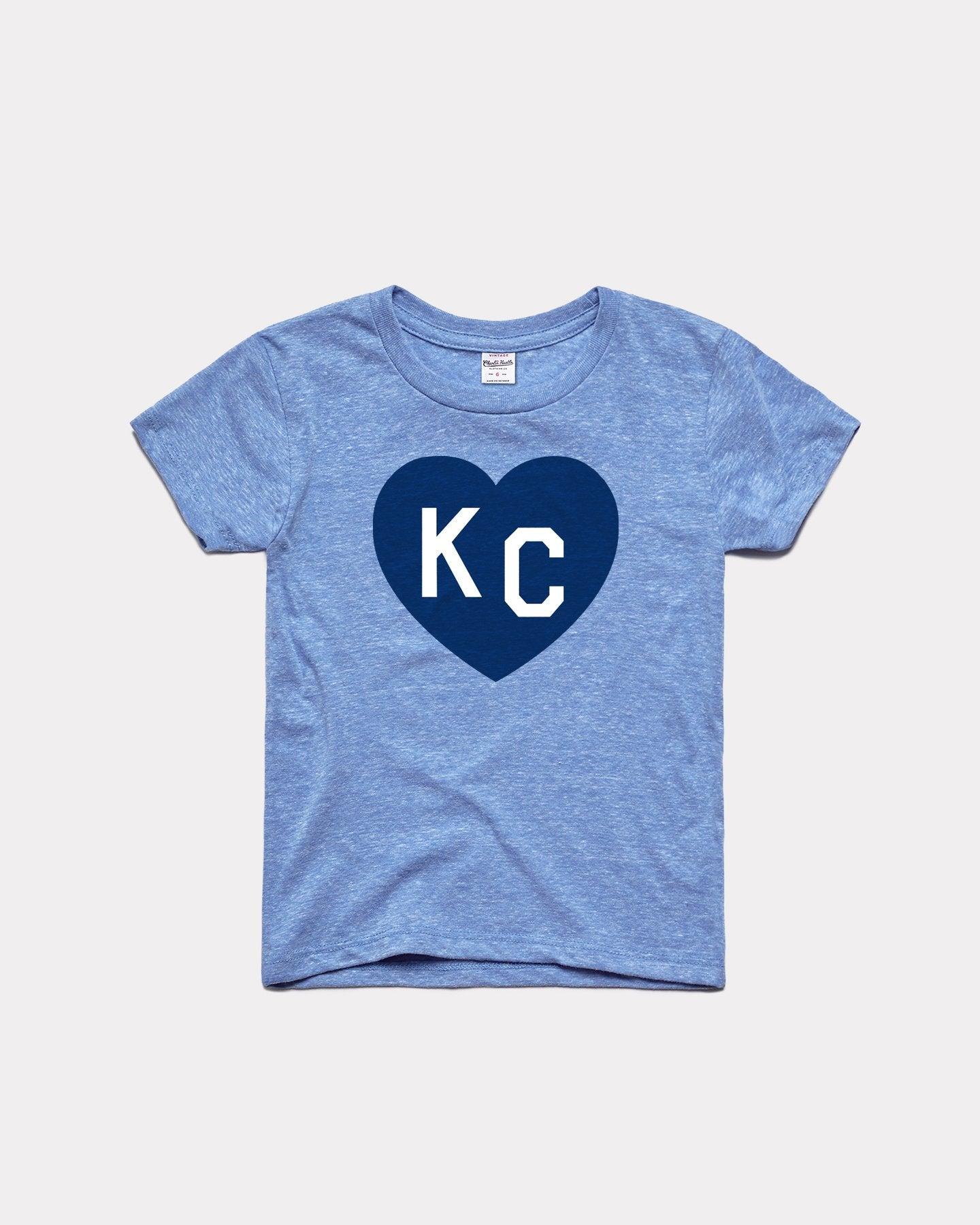 Kids Vintage Light Blue KC Heart Youth T-Shirt