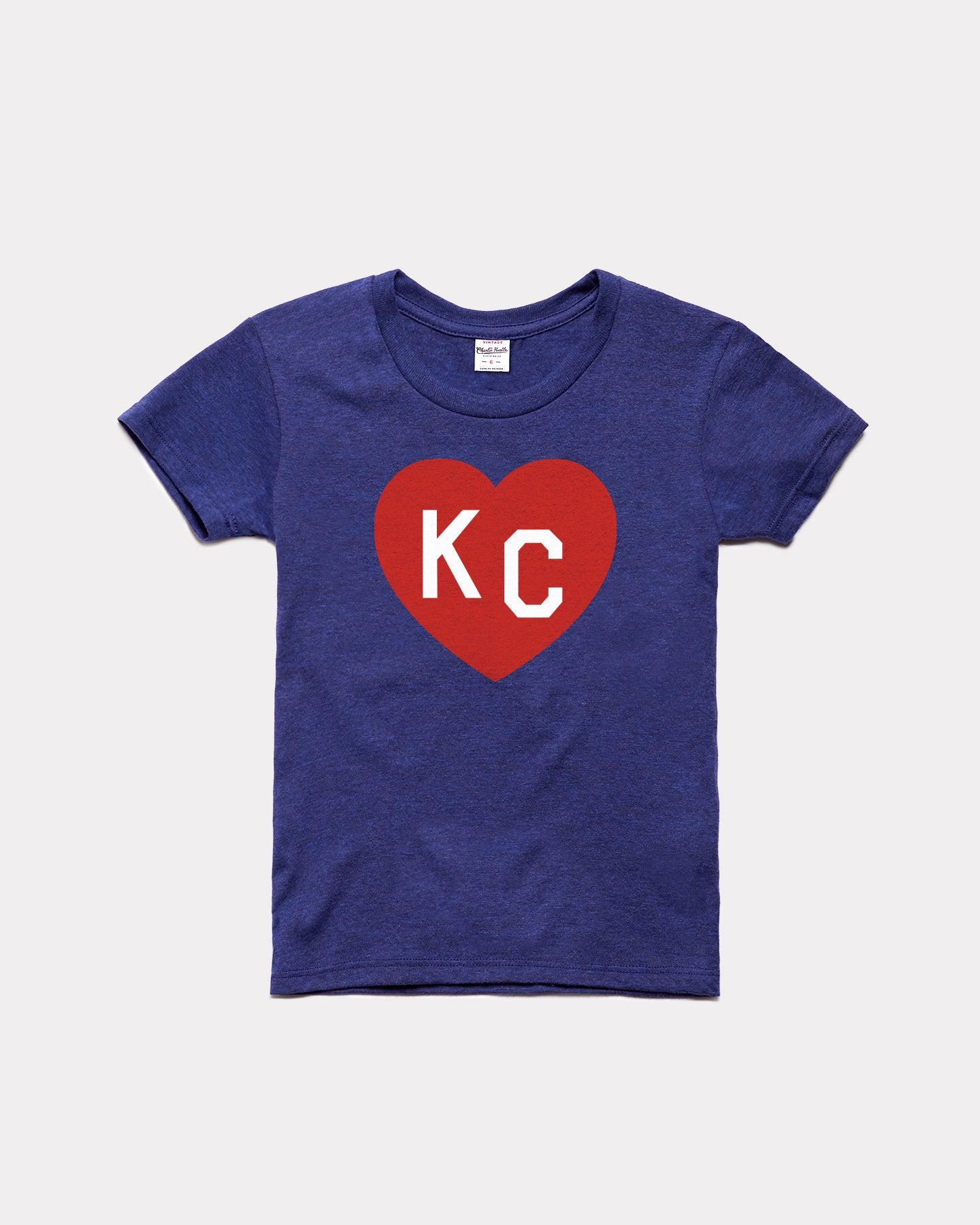 Kids Vintage Navy KC Heart Youth T-Shirt