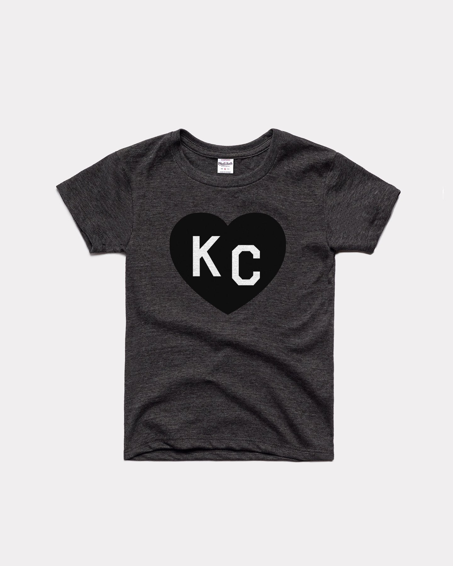 Kids Vintage Black KC Heart Youth T-Shirt