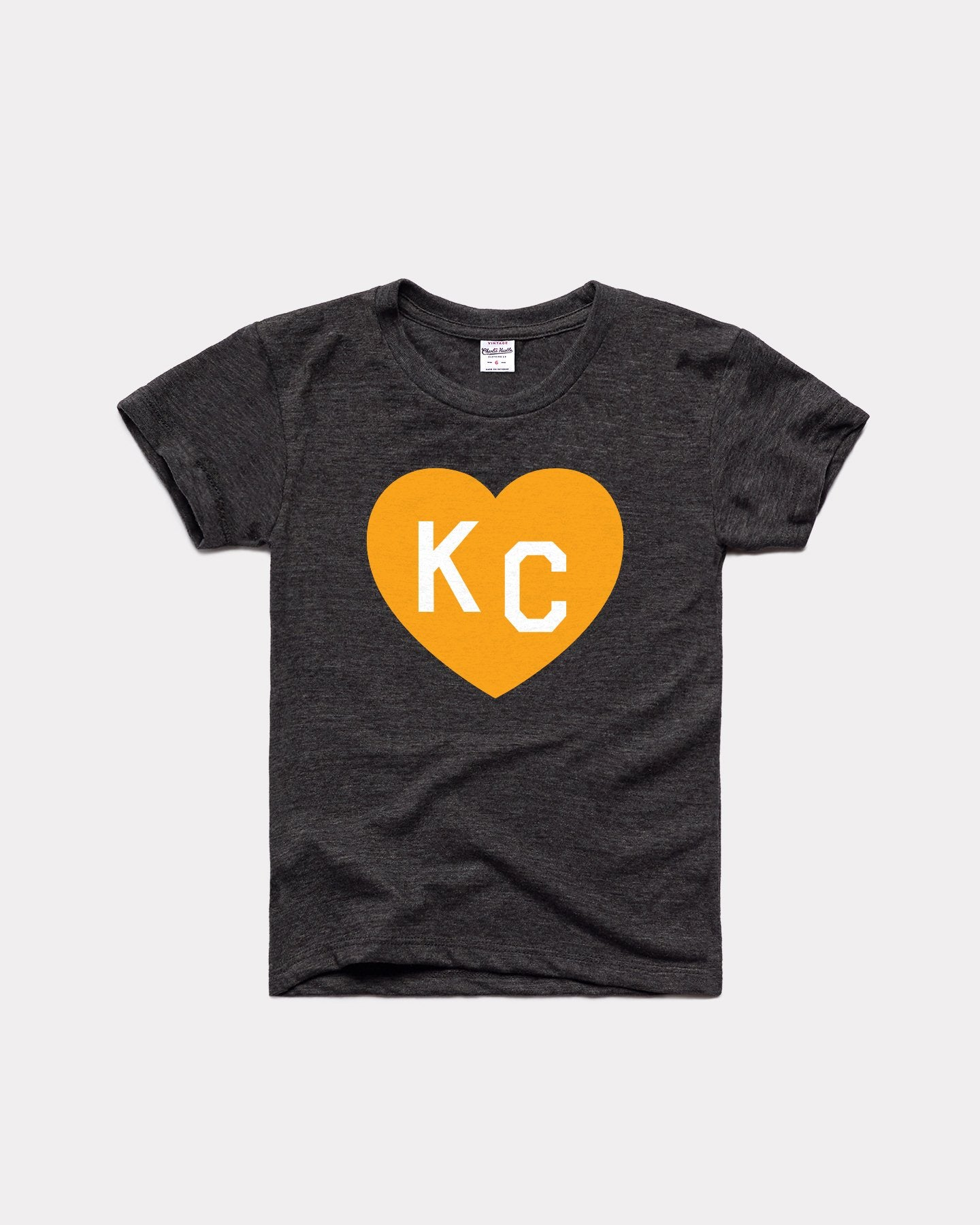 Kids Black & Gold KC Heart