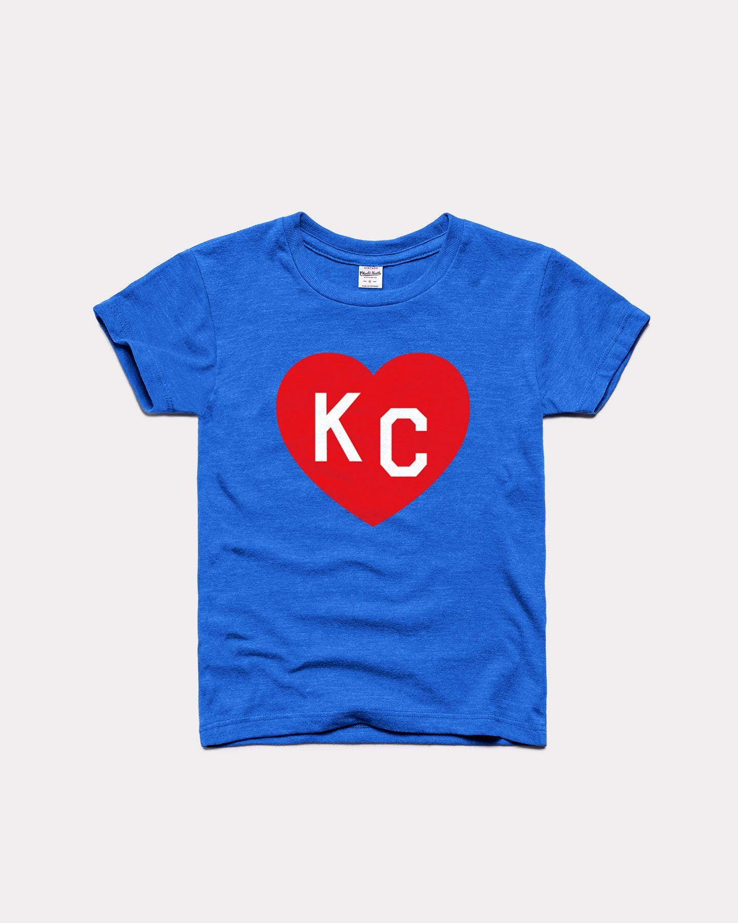 Youth Blue & Crimson KC Heart Vintage Kids T-Shirt