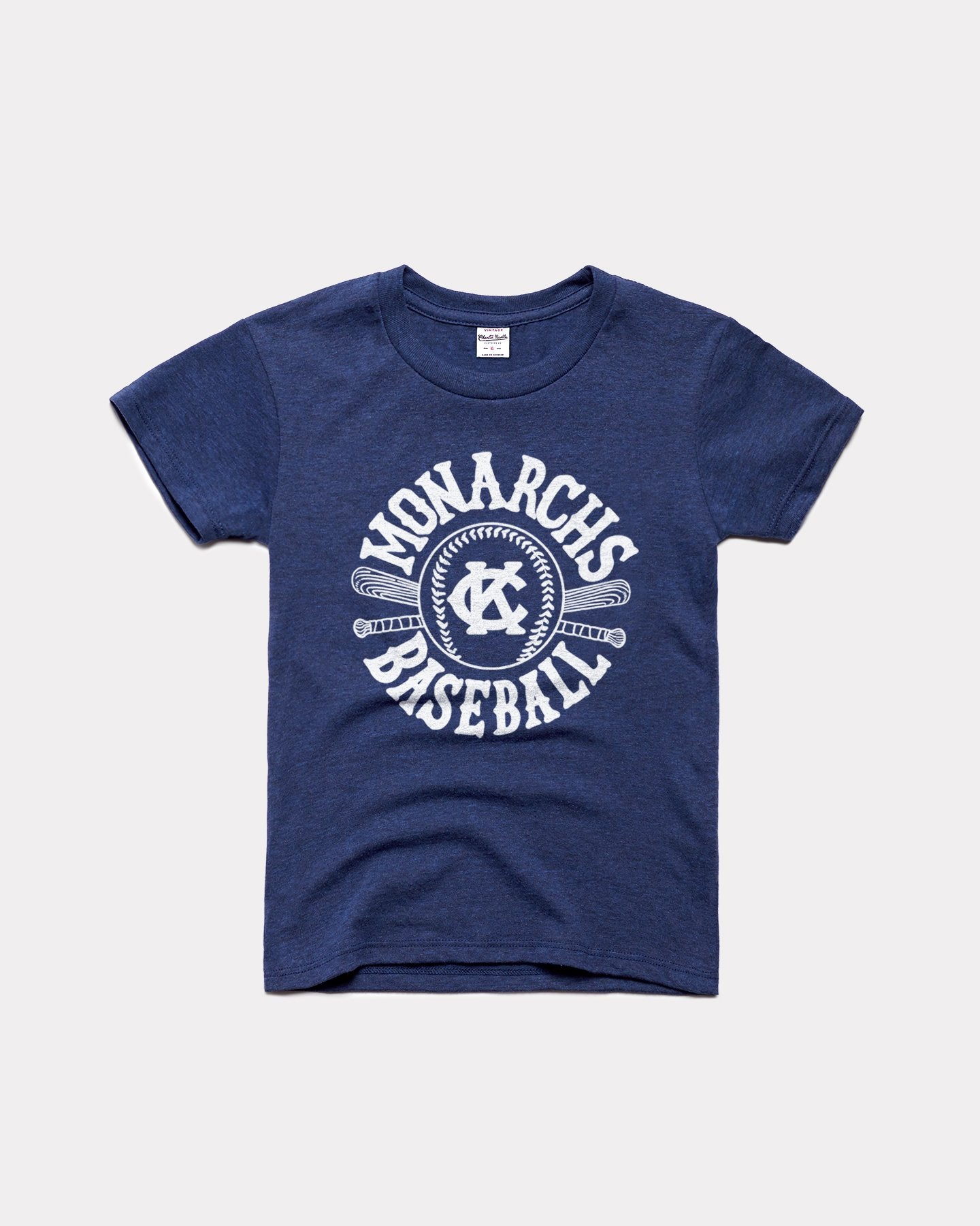 Navy Kids Kansas City Monarchs Baseball Vintage Youth T-Shirt