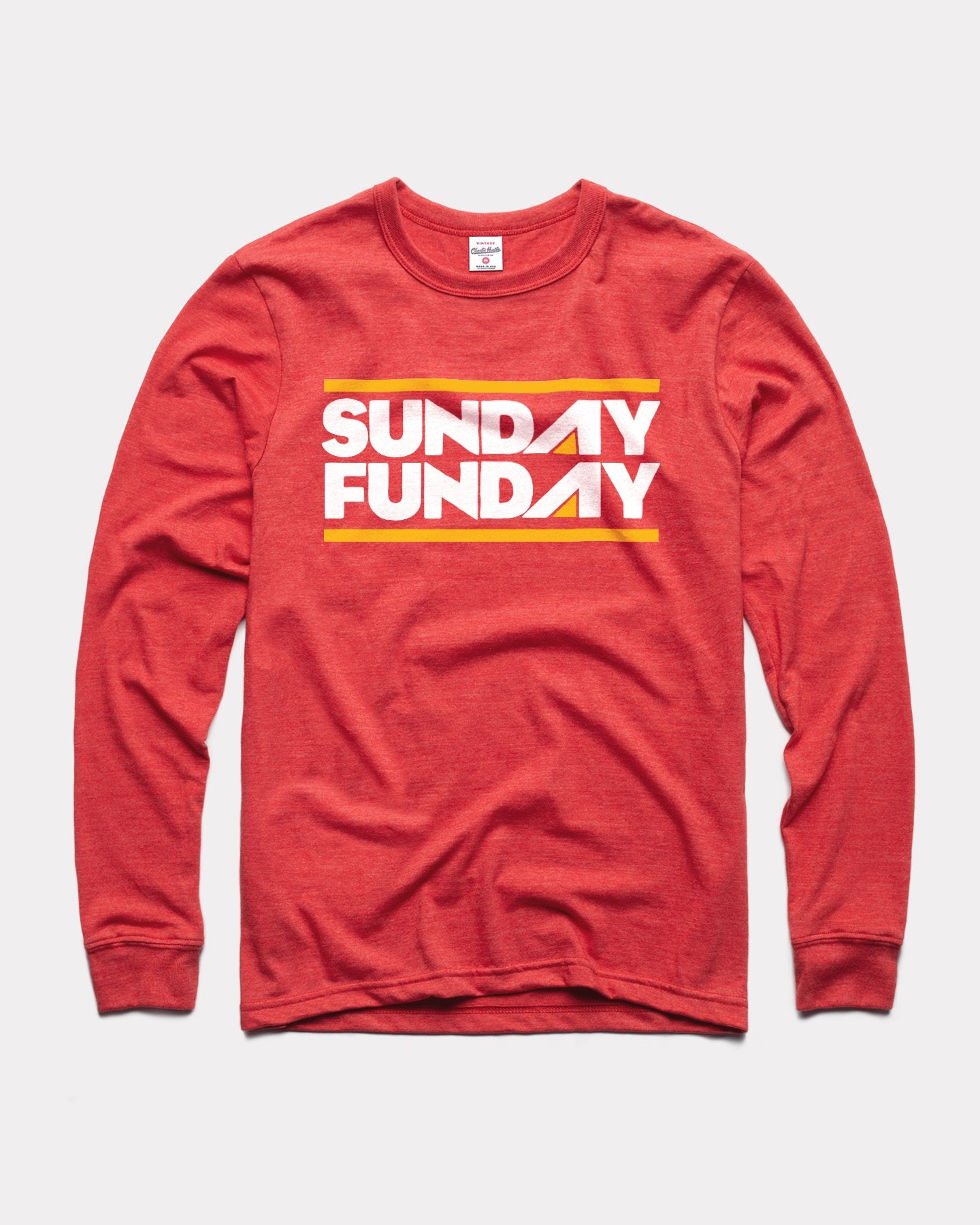 Red Sunday Funday Long Sleeve Vintage T-Shirt