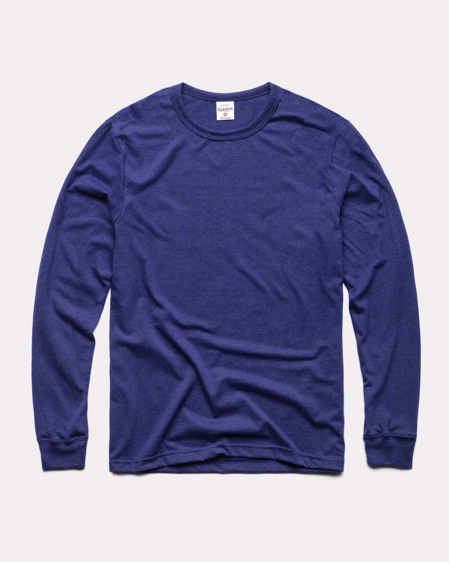 Navy Long Sleeve Essentials Collection Vintage T-Shirt