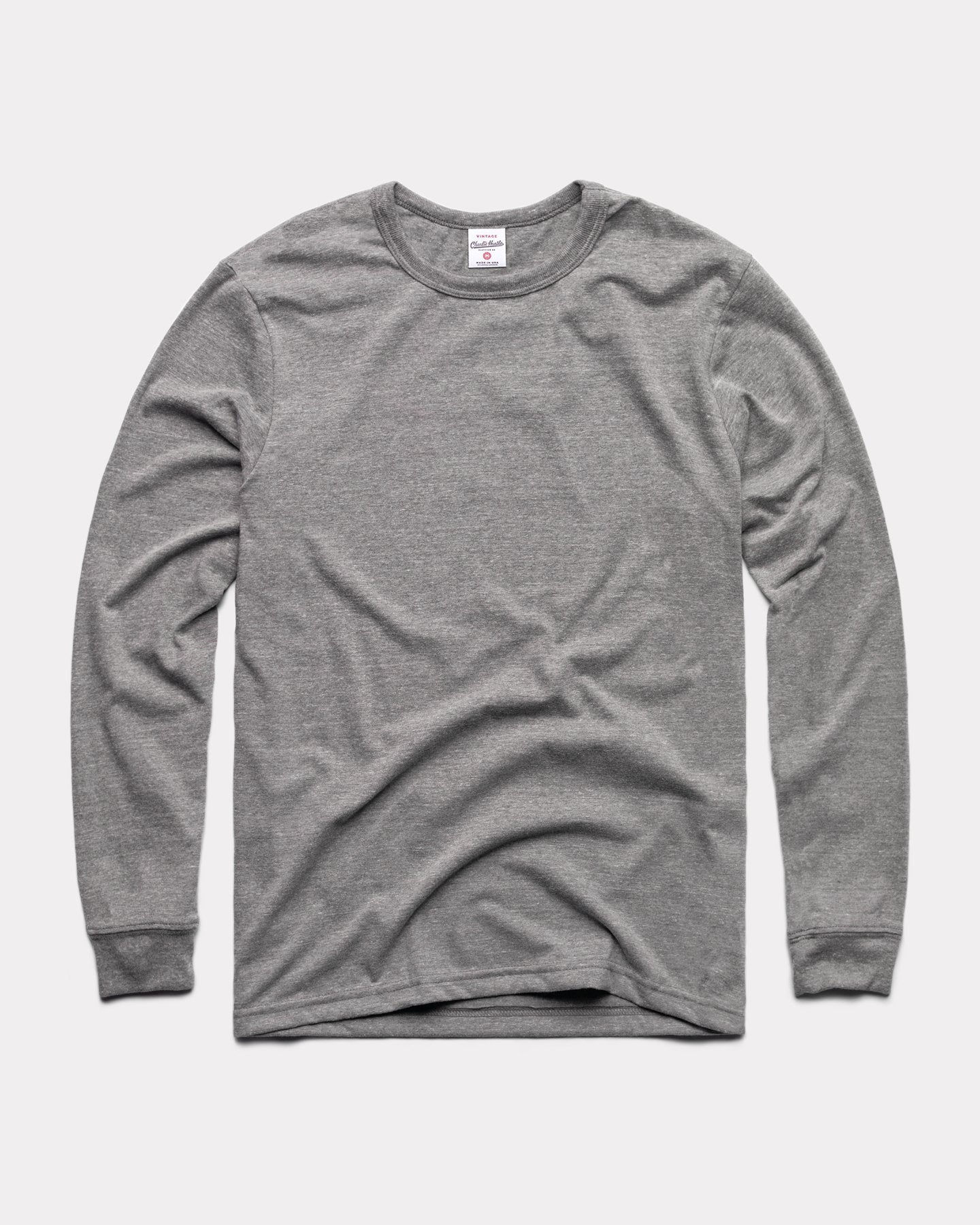 Grey Long Sleeve Essentials Collection Vintage T-Shirt
