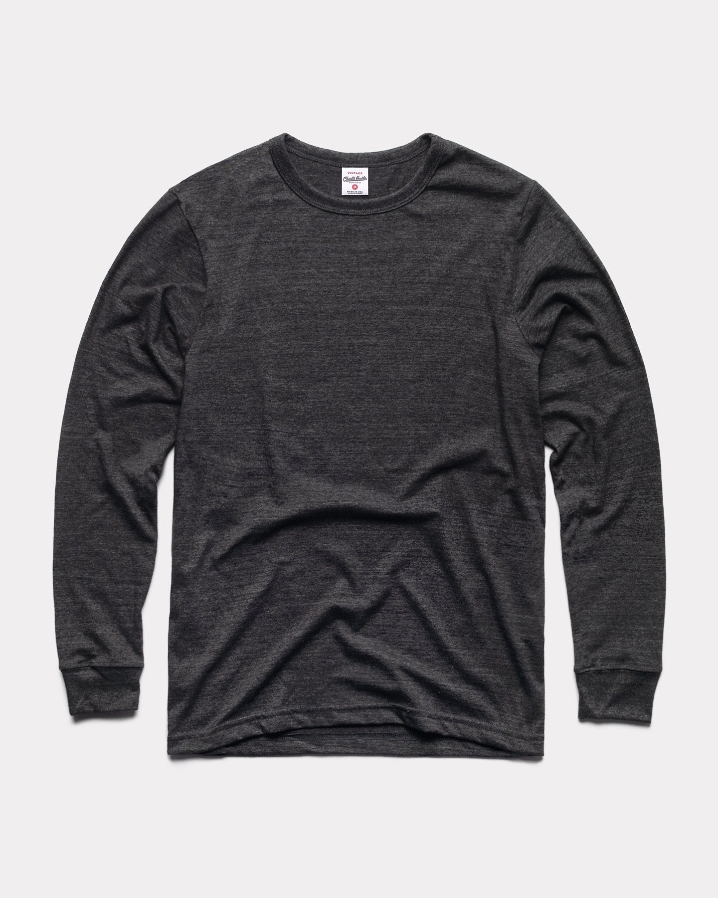 Black Long Sleeve Essentials Collection Vintage T-Shirt