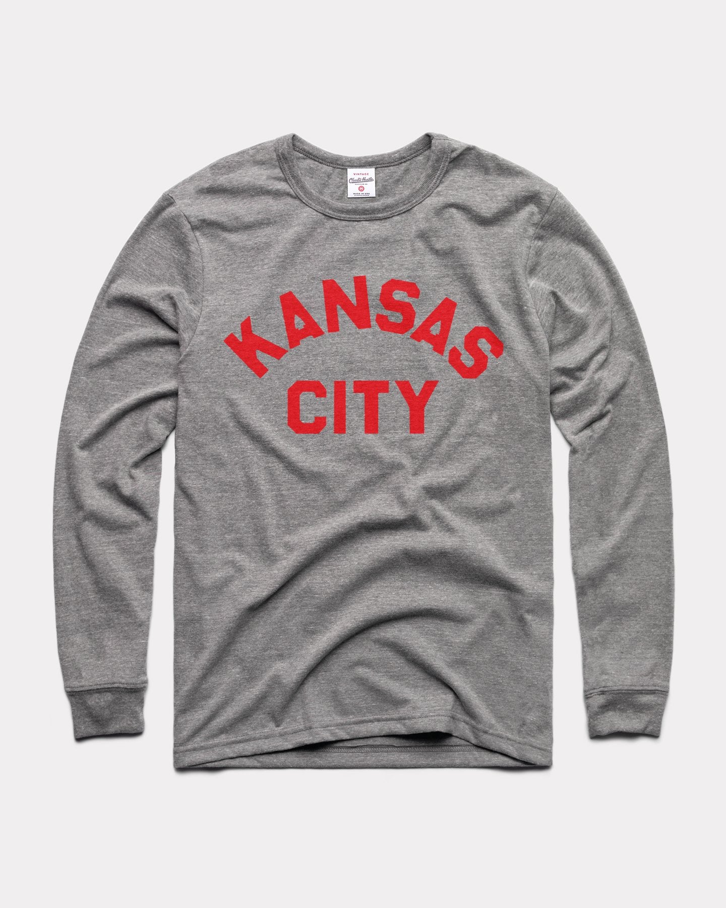Grey Kansas City Arch Vintage Long-Sleeve T-Shirt