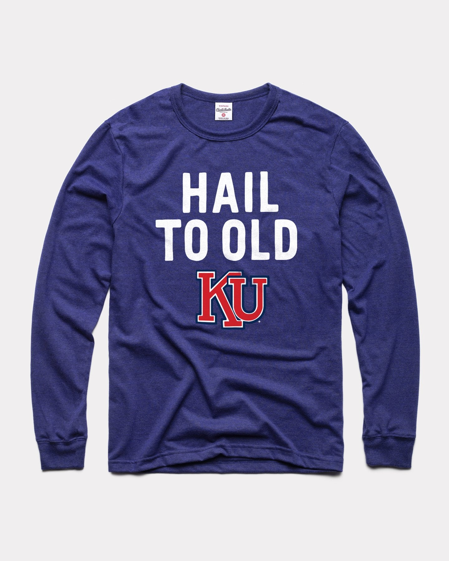 Navy Hail To Old KU Long Sleeve Vintage T-Shirt