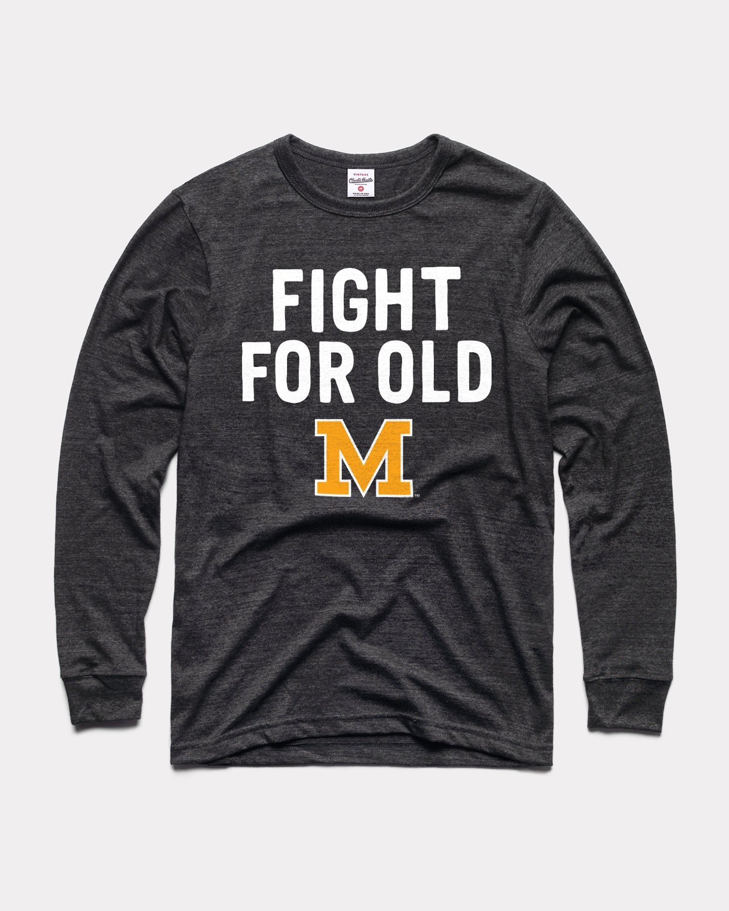 Black Fight For Old Mizzou Tigers Long Sleeve Vintage T-Shirt