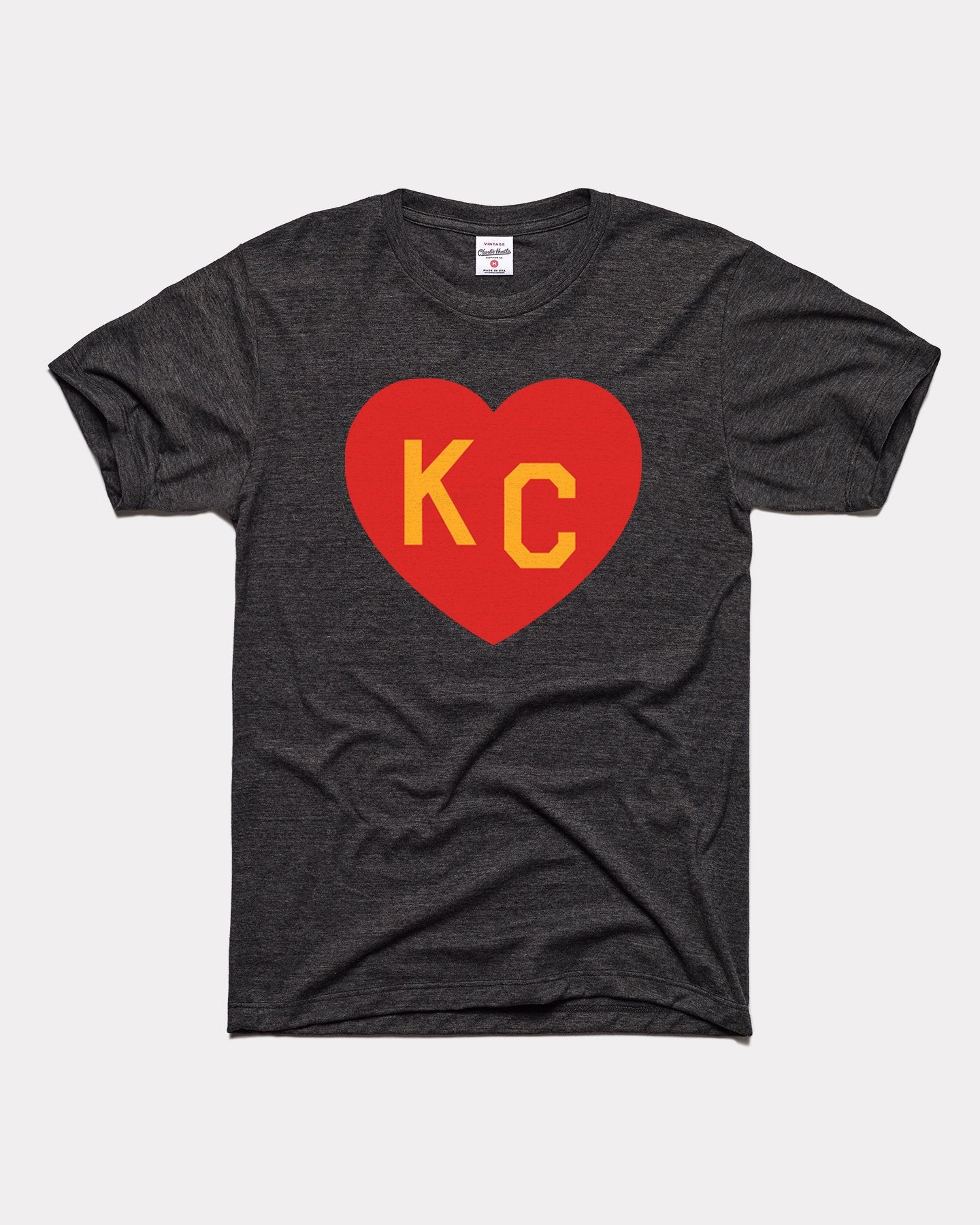 Black & Red KC Heart Vintage T-Shirt