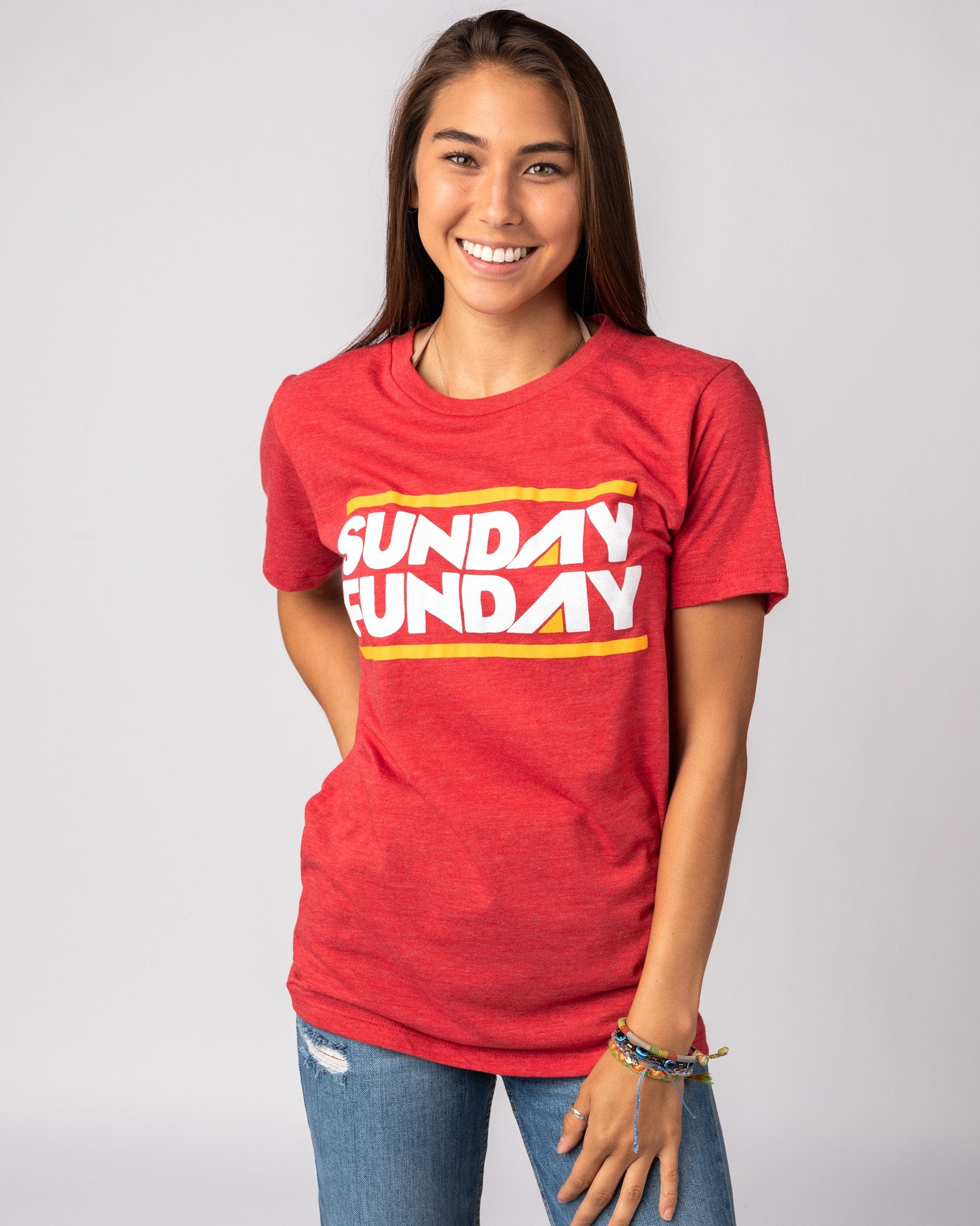 Red Sunday Funday Vintage T-Shirt Front