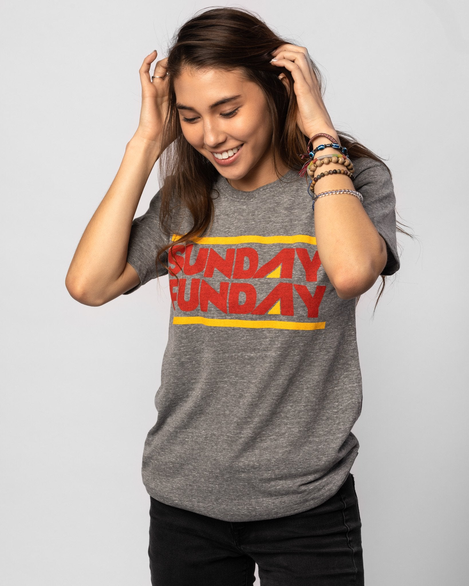 Grey Arrowhead Collection Sunday Funday Vintage T-Shirt Front