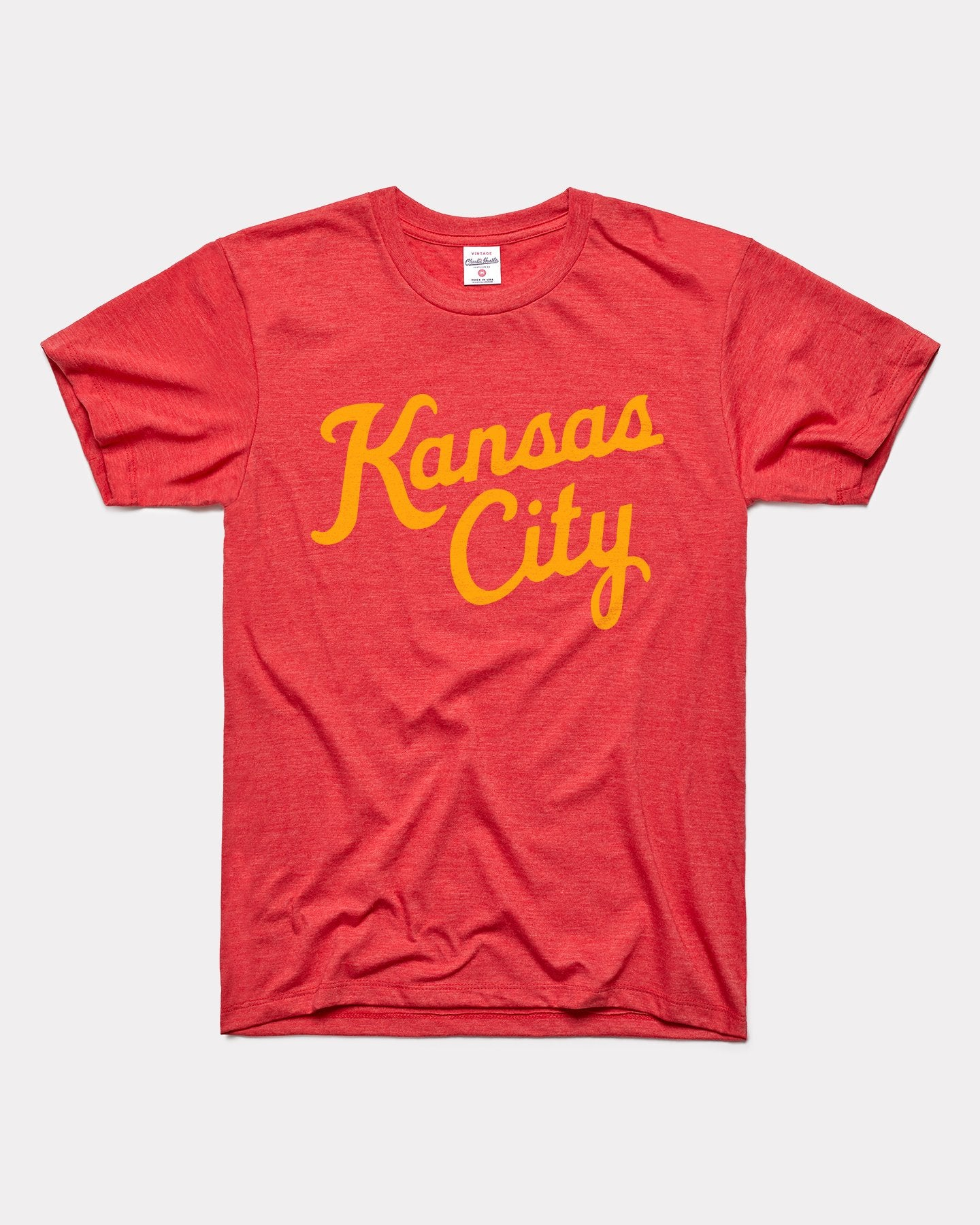 Red Kansas City Script Vintage T-Shirt