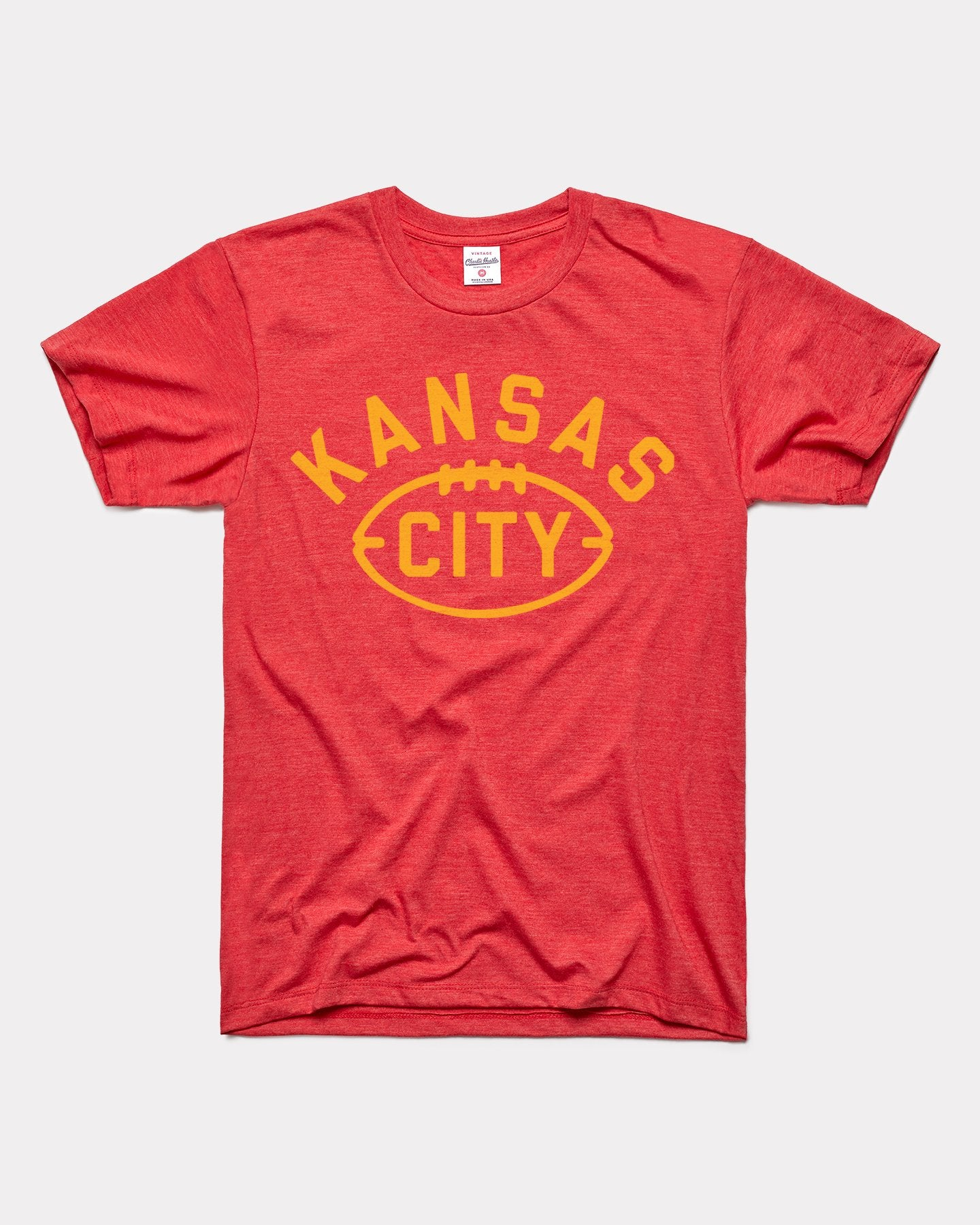 Red Kansas City Arrowhead Football Vintage T-Shirt
