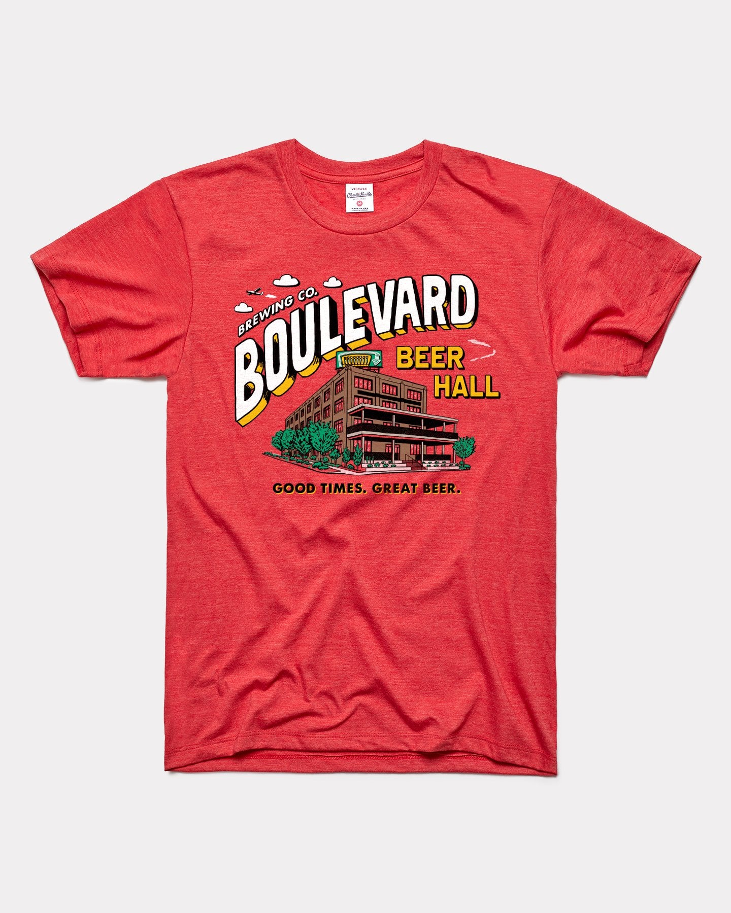 Red Boulevard Brewing Co Beer Hall Vintage T-Shirt