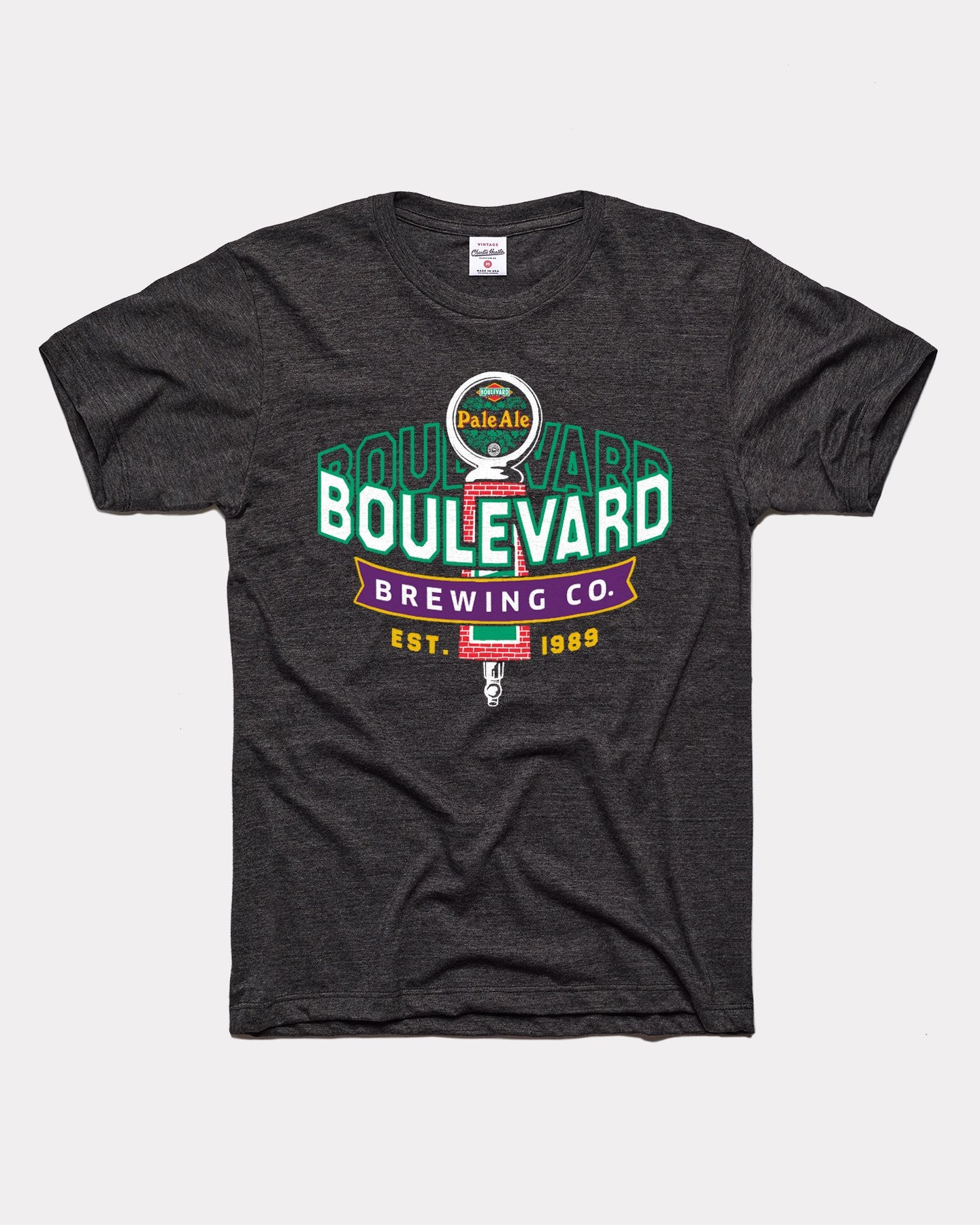 Black Boulevard Brewing Co Pale Ale Tap Handle Vintage T-Shirt