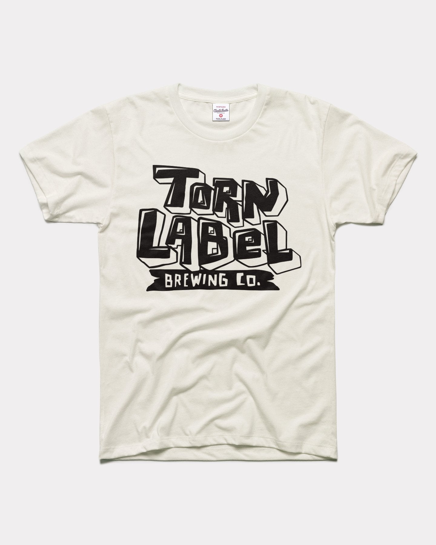 White Torn Label Brewing Co Brewery Vintage T-Shirt