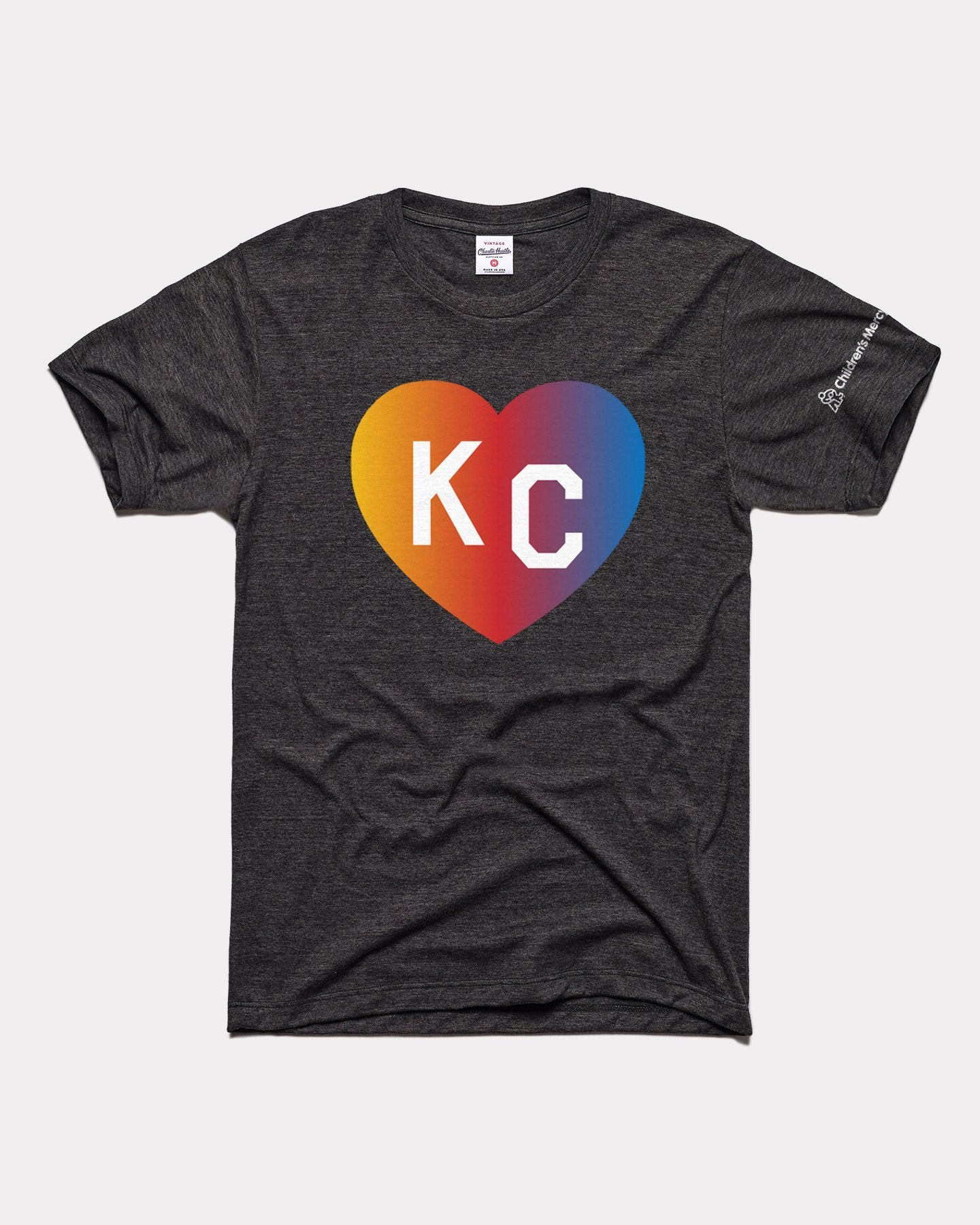 Children's Mercy Autism KC Heart Vintage Black T-Shirt