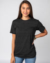 Black Unisex Essentials Collection Vintage T-Shirt Front