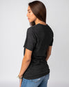 Black Unisex Essentials Collection Vintage T-Shirt Side